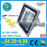cheap price 5 years warranty Ra>90 high power Samsung LG 50w SMD led flood light lens