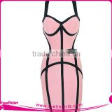 Eco-Friendly Sexy Light Pink Sexy Bodycon Bandage Dress                                                                         Quality Choice