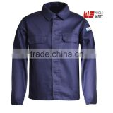 inherent Flame Retardant FR Navy Button Up Shirt,Protective Clothing for Workers Exposed to Heat