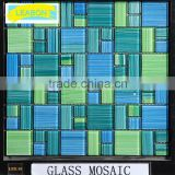 high quality swimming pool glass mosaic tiles, glass mosaic Factory