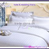 250TC 100% cotton star-rating jacquard dobby hotel bedding sets directly from Chinese factory