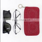 custom multiple color Felt Soft glasses bag, Sticky notes carring with felt bag sunglasses bag
