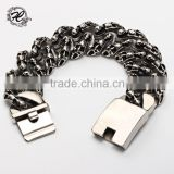Gift for men hip hop punk stainless steel casting heavy cool skull bracelet