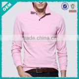 2014 Fashionable innovative blank men long sleeves collar t-shirt in GuangZhou (lyt0300048)