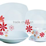 Hot Wholesale 20pcs Porcelain Dinner Set/ Crockery Items Dinner Sets/Modern Square Dinner Set