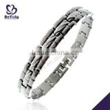 China Manufacturer 2015 latest stainless steel bracelet with initials