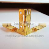 Gold plated metal hinges for wooden box in bulk price from china factory