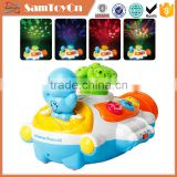 Lovely submaring electronic baby projector toy with music