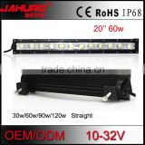 super brightness 5w leds 60w portable led light bar 12v 20 inch bar light for snowmobile