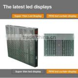 led outdoor strip curtain screen, full color Transparent The newest flexible mobile stage LED curtain display