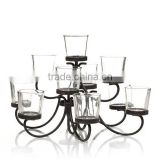 Simple Crystal European Glass Dining Table Candle Jars Wholesale