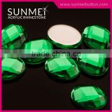 Shinning And Attractive Turtle Face Plastic Stones For Bag Accessories