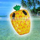 2016factory direct sale yellow giant inflatable pineapple pool float lounge for summer pineapple mattress
