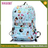 Vivisecret nylon travel laundry bag ,cartoon travel backpack