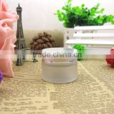 Hot sale frosted glass jar cosmetic with aluminum lid and glass bottle cosmetic morocco for facial skin care