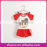 Pretty lovely two-piece cotton baby cheap sport suit children's clothing