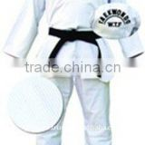 Light Weight Durable 100% Cotton Zean Fabric Belt Included Training White Taekwondo Uniforms Suits