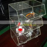 food display/bakery display--y1308132/bread showcase/acrylic transparent 3 tiers bakery showcase with 6 compartments