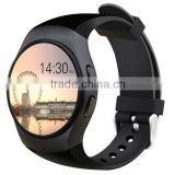 2016 New Product KW18 Smart Watch Android IOS Bluetooth MTK2502C SIM Round Heart Rate Monitor Watch Clock
