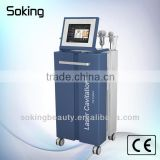 Cold laser + cavitation+vacuum+ multi polar RF lipo laser slimming machine