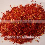 red dried chilli flakes,red hot chilli flakes,chilli flakes with seeds 38%max,chilli flakes 6*6mm