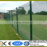 International anti theft Future popular PVC coated 4mm galvanized wire welded high quality metal fence panels with solid H posts