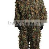 Woodland Camo Ghillie Suit 3D Camouflage Jungle Hunting Clothing Set