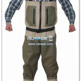 Waterproof breathable chest fishing wader -2