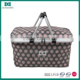 Handle Portable Leisure Waterproof Folding Picnic Basket with Cooler