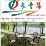 factory leisure mental table and sling chair/bistro garden dining chair and table garden set in China