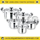10pcs multi-purpose stainless steel casserole,casserole hot pot