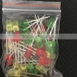 5mm LED package LED light green and yellow each 10 light emitting diode package 30