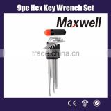 9pc Hex Key Wrench Set