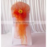 Fancy Big Cheap Colorful Organza Chair Hood Chair Cap Chair Sash for Wedding Decor