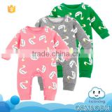 Custom design baby clothes kids wear duck animal casual fancy winter cotton baby christmas romper suit