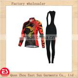 2014 new style women long sleeve long bib pants cycling jersey/bicycle wear/cycling clothing