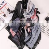 2016 Fashion bandana Luxury Scarve Woman Brand 100% Silk Scarf With Flower Print Women Shawl High Quality Print
