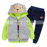factory! 2017 new arrival boys 3pcs clothing sets kids winter garment infant baby children outfits