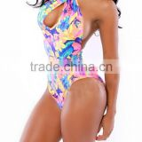 EY0026A New Women Swimwear All Over Print Swimsuit One Piece Sexy Bathing Bodysuit