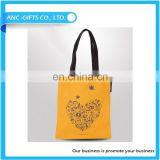 Professional customized advertising hand full cotton shopping bag student canvas bag customized logo blank beam canvas bag