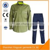 Factory Price Polyester/Cotton Safety Acid Resistant chemical protective reflective clothing