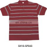 Jacquard men's polo shirt