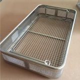 Medical 304 316 Stainless Steel Disinfecting Metal Basket/Sterilization Wire Mesh Trays Baskets