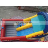 SUNWAY children best quality inflatable water slide for kids,bounce round water slide,plastic swimming pool with slide