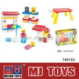 Hot building blocks toys amusement park plastic building blocks toys