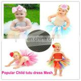 Glossy Diamond Nylon Tulle Mesh Fabric for Children Dress