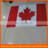 waving hand flag of Canada country
