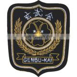 martial arts Karate Club Badges, Hand Embroidered Bullion Wire Club Blazer Badge, Premium Quality