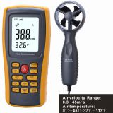 LF199 Split Type Digital Anemometer Air Speed Meter with Stretchable Handle tuyere area set