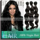 Hot sale very nice shape and full end Malaysian virgin hair natural wave & loose wave & deep wave